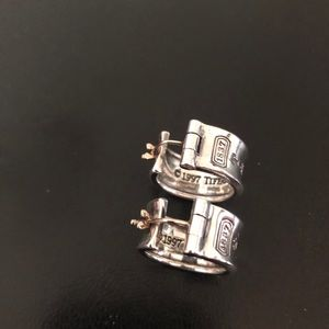 Authentic Tiffany's silver hoops